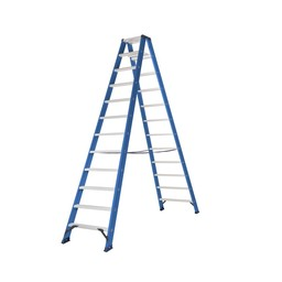 Das Ladders Das Hercules blue Doppel-Klapptritt 2x12 Stufen
