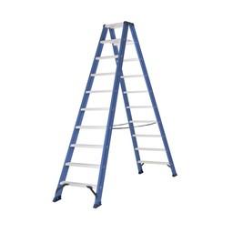 Das Ladders Das Hercules blue Doppel-Klapptritt 2x10 Stufen