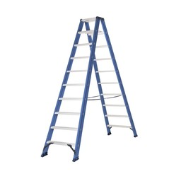 Das Ladders Das Hercules blue dubbele trap 2x10 treden