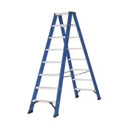 Das Ladders Das Hercules blue dubbele trap 2x8 treden