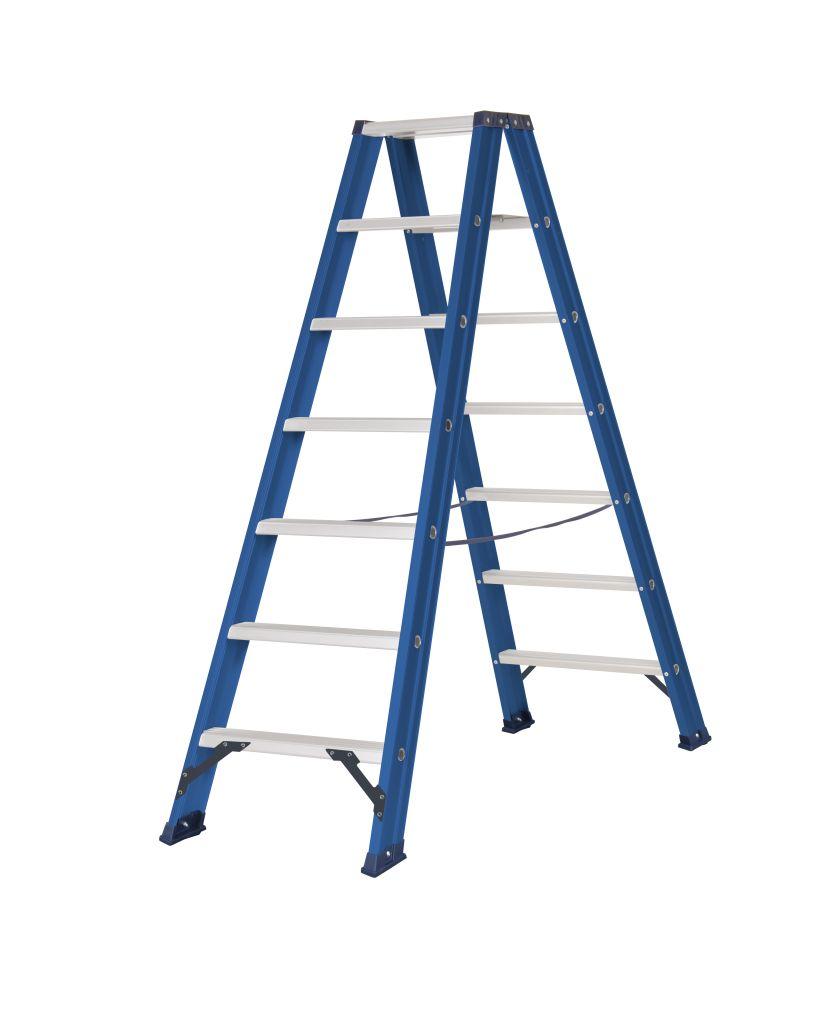 Das Ladders Das Hercules blue dubbele trap 2x7 treden