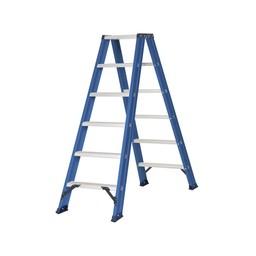 Das Ladders Das Hercules blue Doppel-Klapptritt 2x6 Stufen