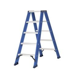 Das Ladders Das Hercules blue dubbele trap 2x5 treden