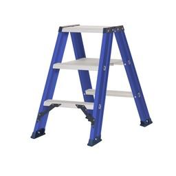 Das Ladders Das Hercules blue escabeau double 2x3 marches