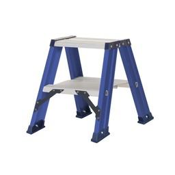 Das Ladders Das Hercules blue dubbele trap 2x2 treden