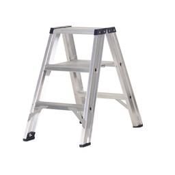 Das Ladders Das Premium Stehleiter beidseitig begehbar 3 Sprossen