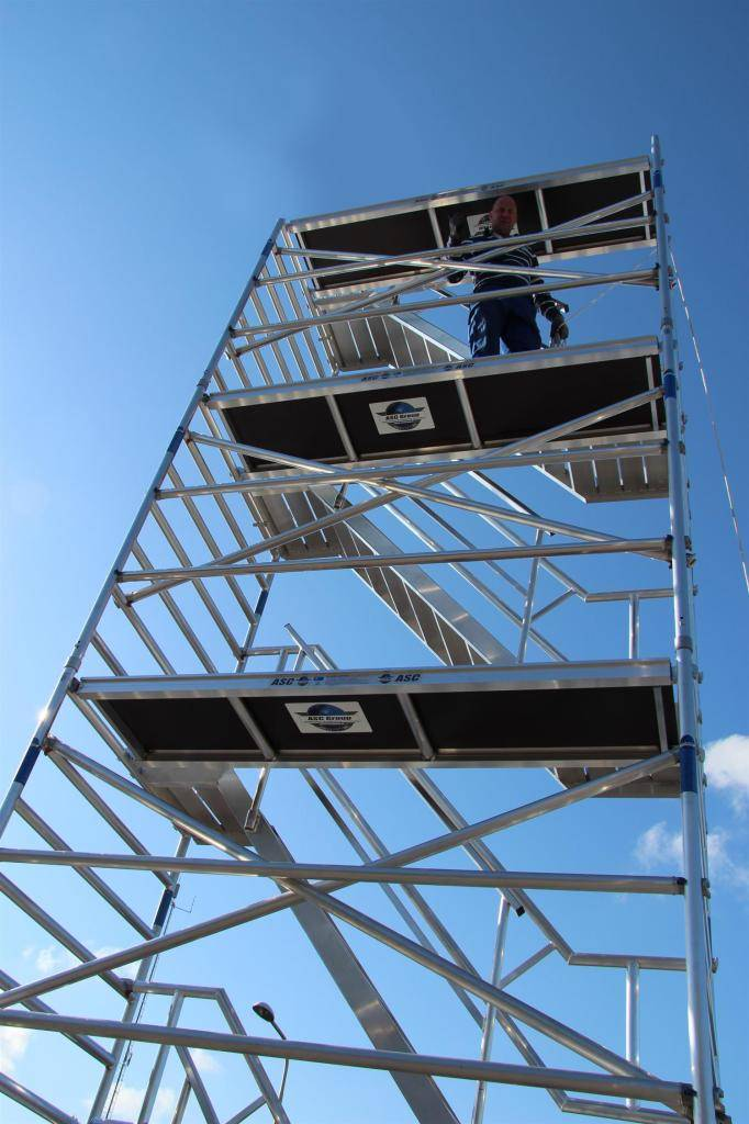 ASC Treppenturm 135-250 x 14 m Arbeitshöhe