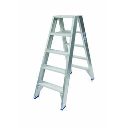 Solide Solide Stufen-Stehleiter beidseitig begehbar 2 x 5 Sprossen DT05