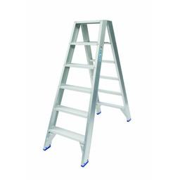 Solide Solide Stufen-Stehleiter beidseitig begehbar 2 x 6 Sprossen DT06