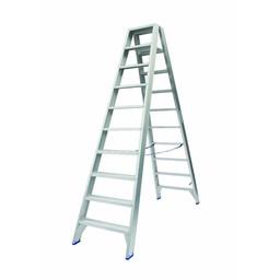 Solide Solide Stufen-Stehleiter beidseitig begehbar 2 x 10 Sprossen DT10