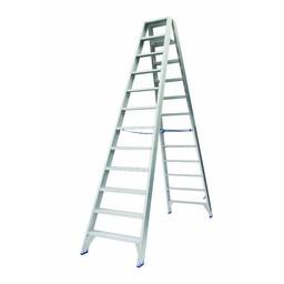 Solide Solide Stufen-Stehleiter beidseitig begehbar 2 x 12 Sprossen DT12