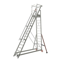 Tubesca Tubesca escalier de rayonnage 15 marches