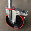 Steigerwiel 200 mm met stalen spindel kunststof (4 stuks)