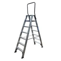 ASC ASC Stufen-Doppelleiter 2 x 7 Stufen DT-7