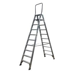 ASC ASC Stufen-Doppelleiter 2 x 10 Stufen DT-10