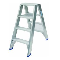 Solide Solide Stufen-Stehleiter beidseitig begehbar 2 x 4 Sprossen DT04