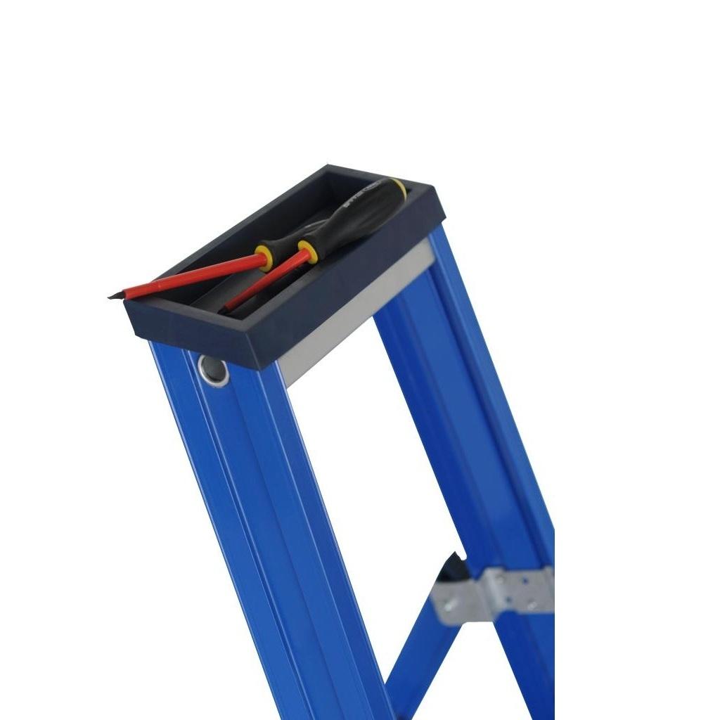 Das Ladders Das Hercules blue Aluminium-Stehleiter 8 Stufen ET8B