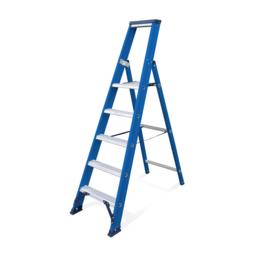Das Ladders Das Hercules blue trapladder 5 treden ET5B