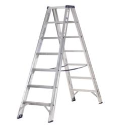 Das Ladders Das Premium Stehleiter beidseitig begehbar 7 Sprossen PDT7