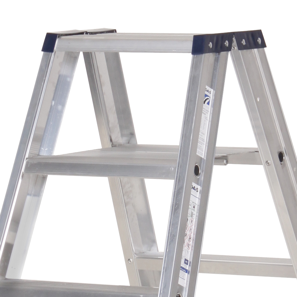 Das Ladders Das Premium Stehleiter beidseitig begehbar 6 Sprossen PDT6