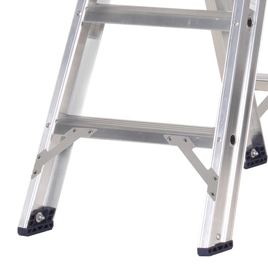 Das Ladders Das Premium Stehleiter beidseitig begehbar 4 Sprossen PDT4