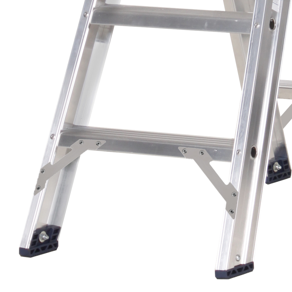 Das Ladders Das Premium Stehleiter beidseitig begehbar 3 Sprossen PDT3