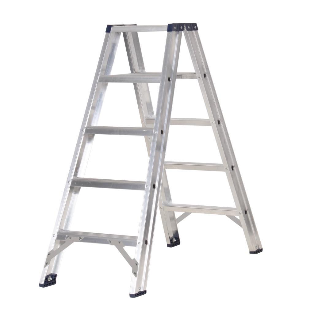 Das Ladders Das Premium Stehleiter beidseitig begehbar 5 Sprossen PDT5