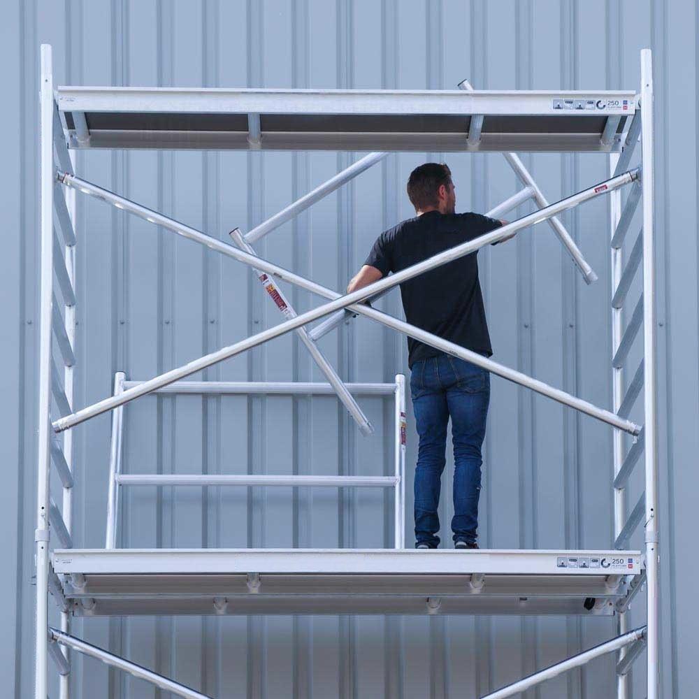 Rollgerüst 135-250 x 6,2 m Arbeitshöhe