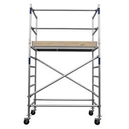 Alumexx Échafaudage roulant Basic-Line hauteur de travail 4,3 m (type 0)
