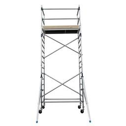 Alumexx Échafaudage roulant Basic-Line hauteur de travail 6,3 m (type 1.0)