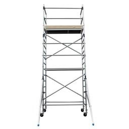Alumexx Échafaudage roulant Basic-Line hauteur de travail 6,3 m (type 2.0)