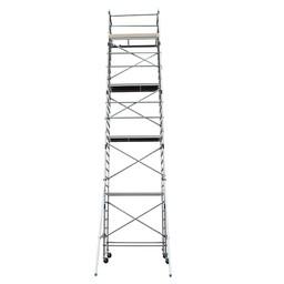 Alumexx Échafaudage roulant Basic-Line hauteur de travail 10,3 m (type 4.1)