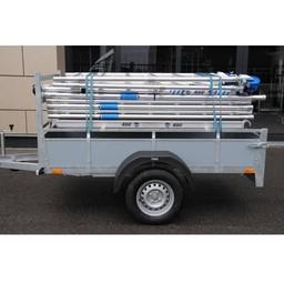 Alumexx Basic-Line rolsteiger werkhoogte 8,3 m + aanhangwagen