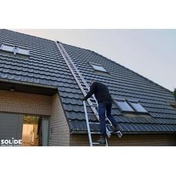 Solide Solide échelle de toit set 9 m
