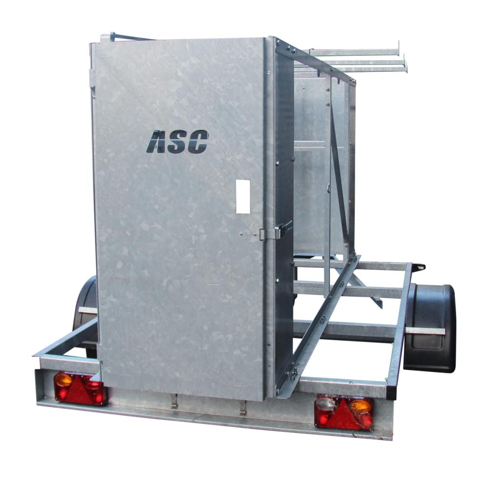 ASC Afsluitbare steigeraanhanger X Carrier 250