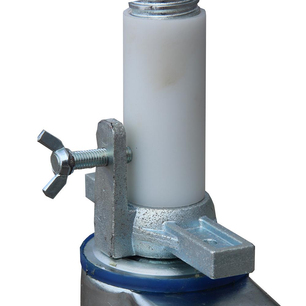 ASC ASC steigerwiel Ø 200 mm met stalen spindel 375 kg kunststof (4 stuks)