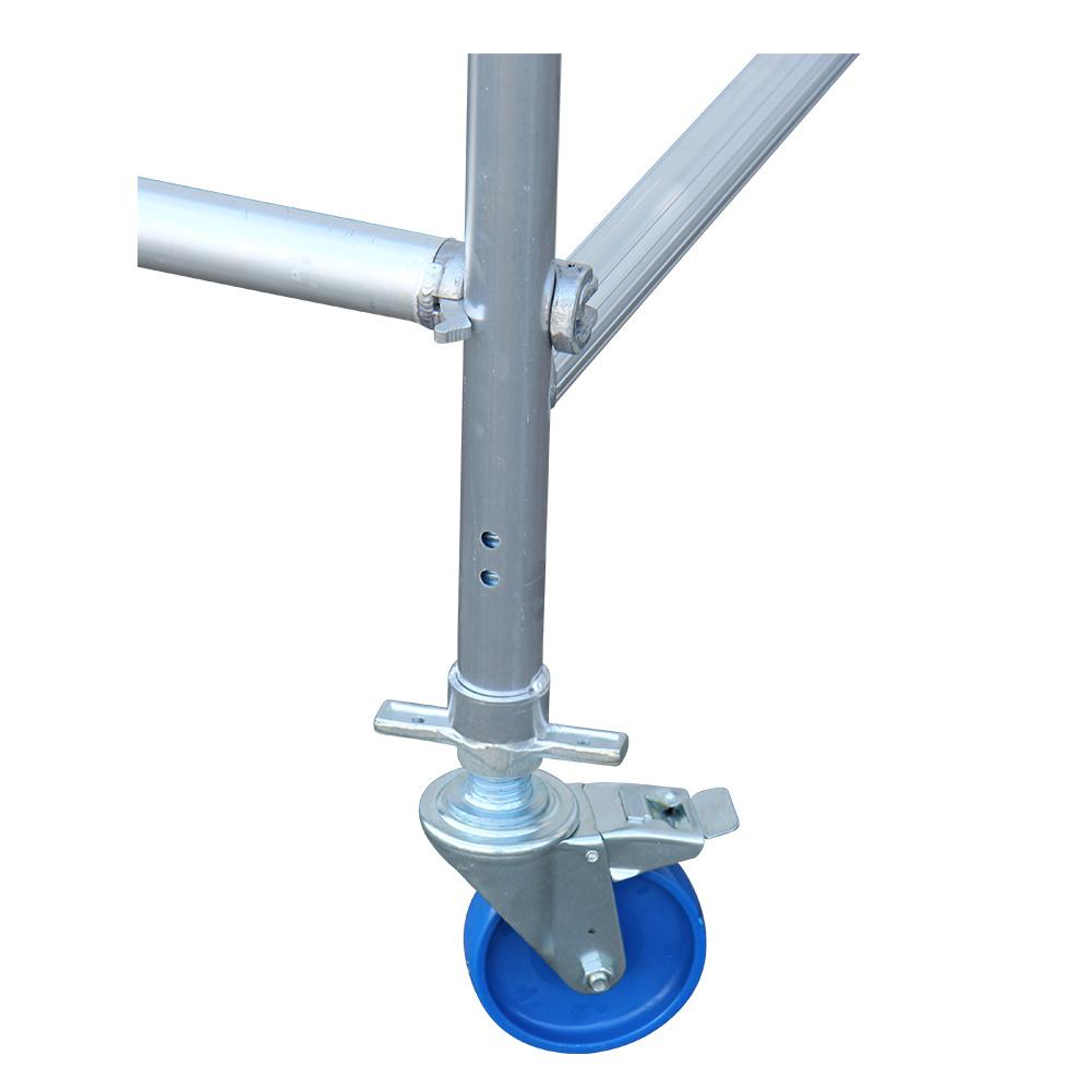 Alumexx Alumexx steigerwiel 150 mm met stalen spindel nylon (4 stuks)