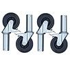 EuroScaffold Kamersteiger wielen 125 mm (4 stuks)