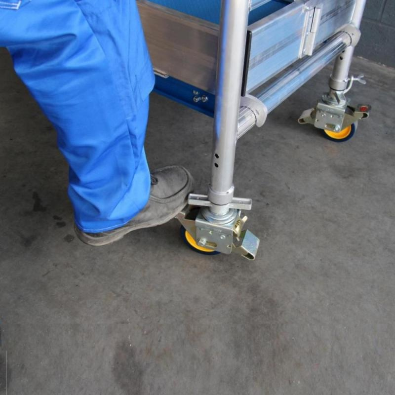 ASC Gerüstrolle Ø 125 mm mit Stahlspindel Polyamide (4 stück)