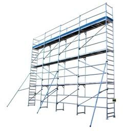 ASC Échafaudage de facade 100 m² - 0,75 m x 10 m x 10 m