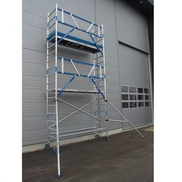 ASC Rollgerüst mit Montageschutzgeländer 75-305 x 6,2 m Arbeitshöhe