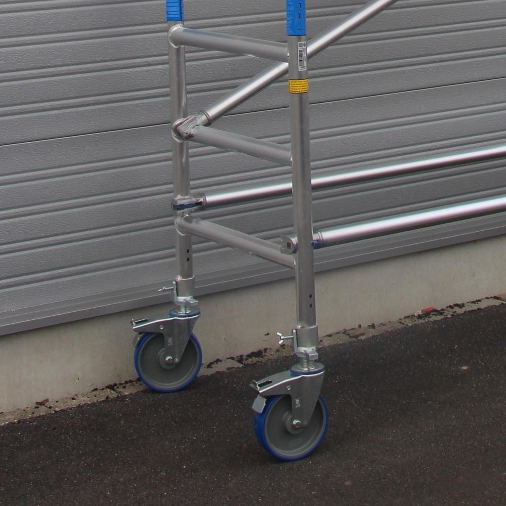 ASC Rolsteiger voorloopleuning enkel 75 x 190 x 6,2 m werkhoogte