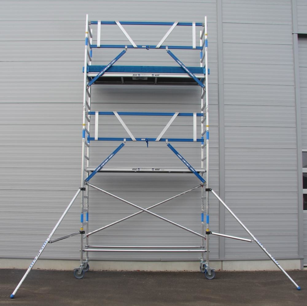 ASC Rolsteiger voorloopleuning enkel 75 x 250 x 6,2 m werkhoogte