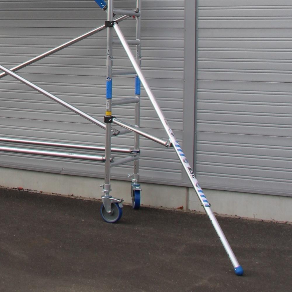 ASC Rolsteiger voorloopleuning enkel 75 x 250 x 7,2 m werkhoogte