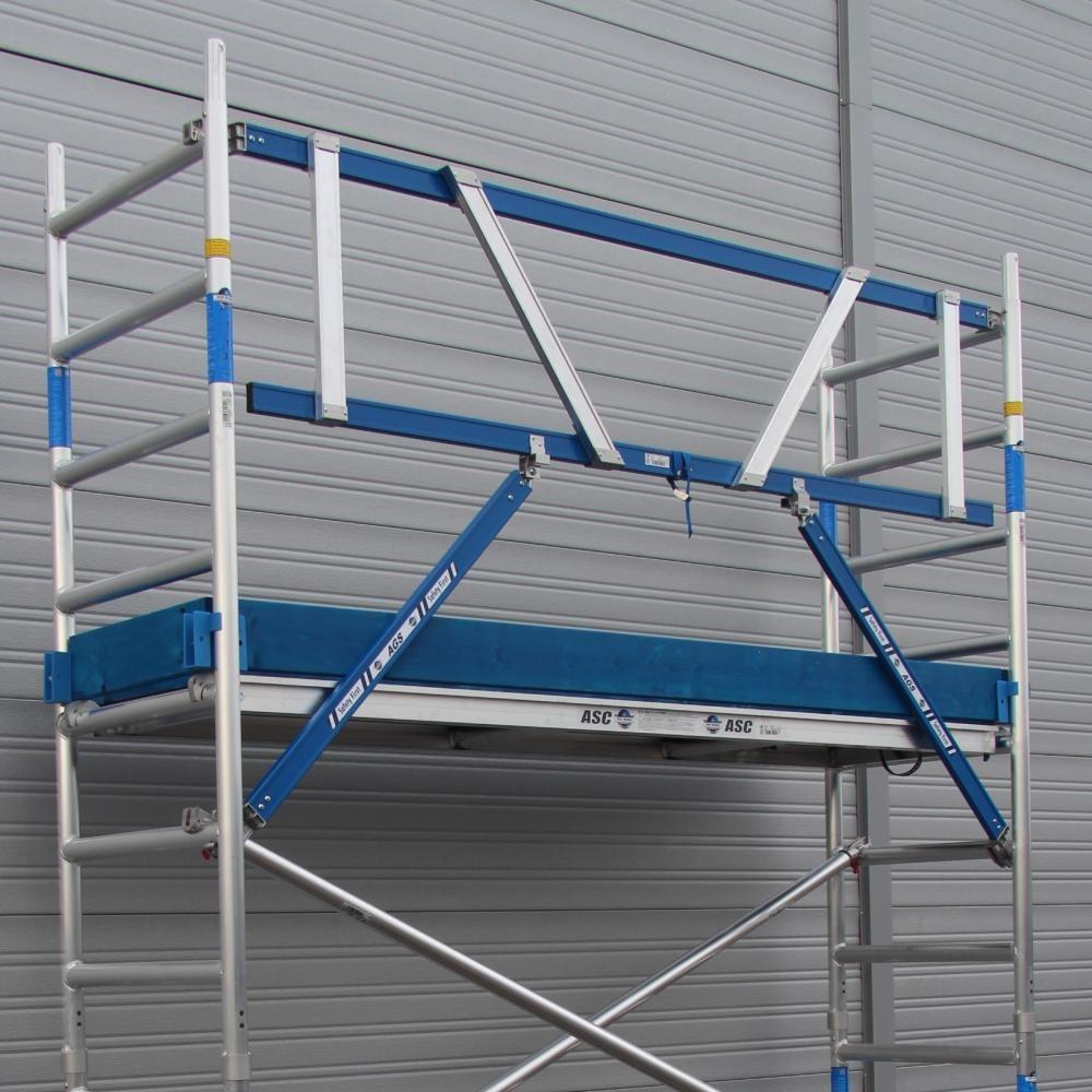 ASC Rolsteiger voorloopleuning enkel 75 x 250 x 8,2 m werkhoogte