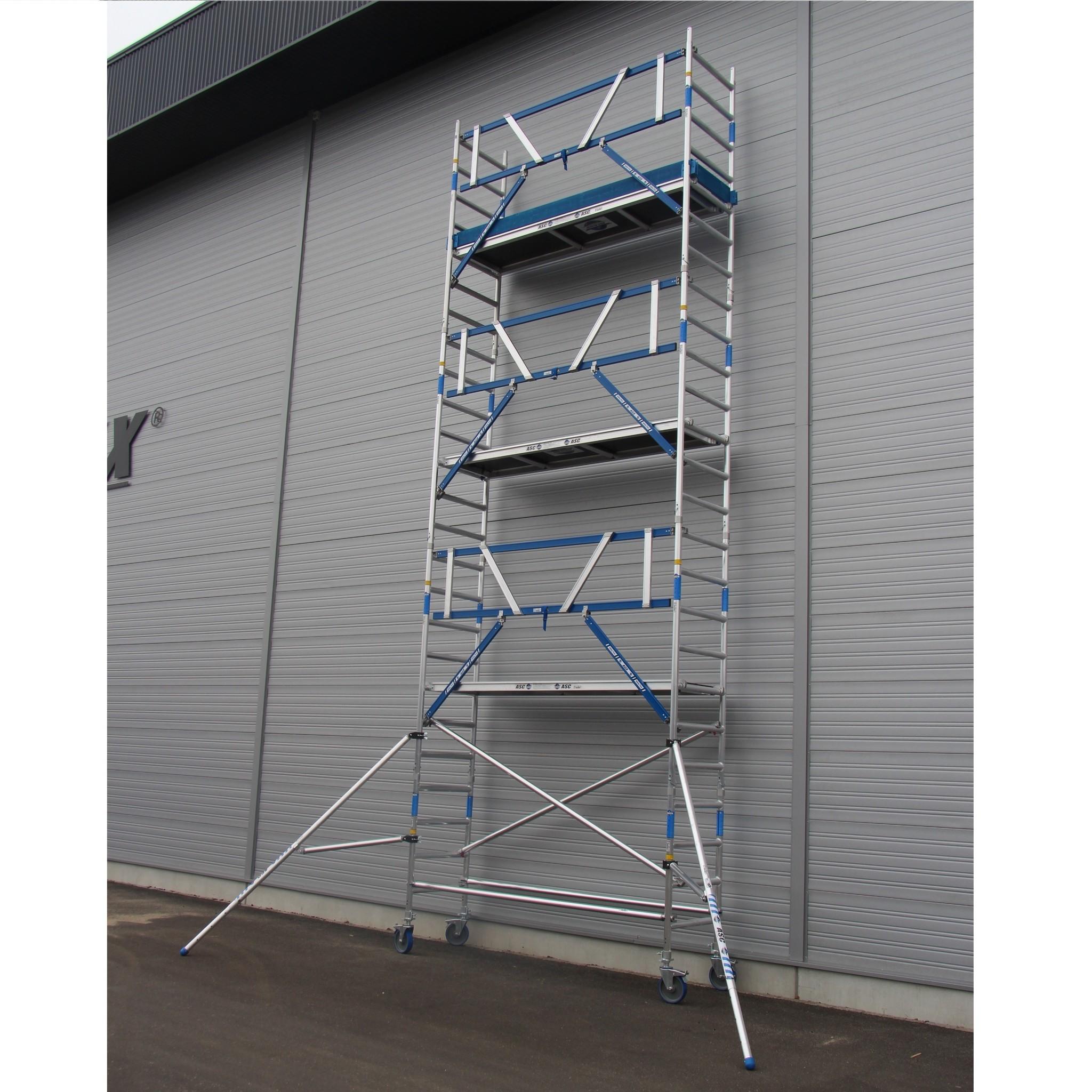 ASC Rollgerüst mit Montageschutzgeländer 75-250 x 10,2 m Arbeitshöhe