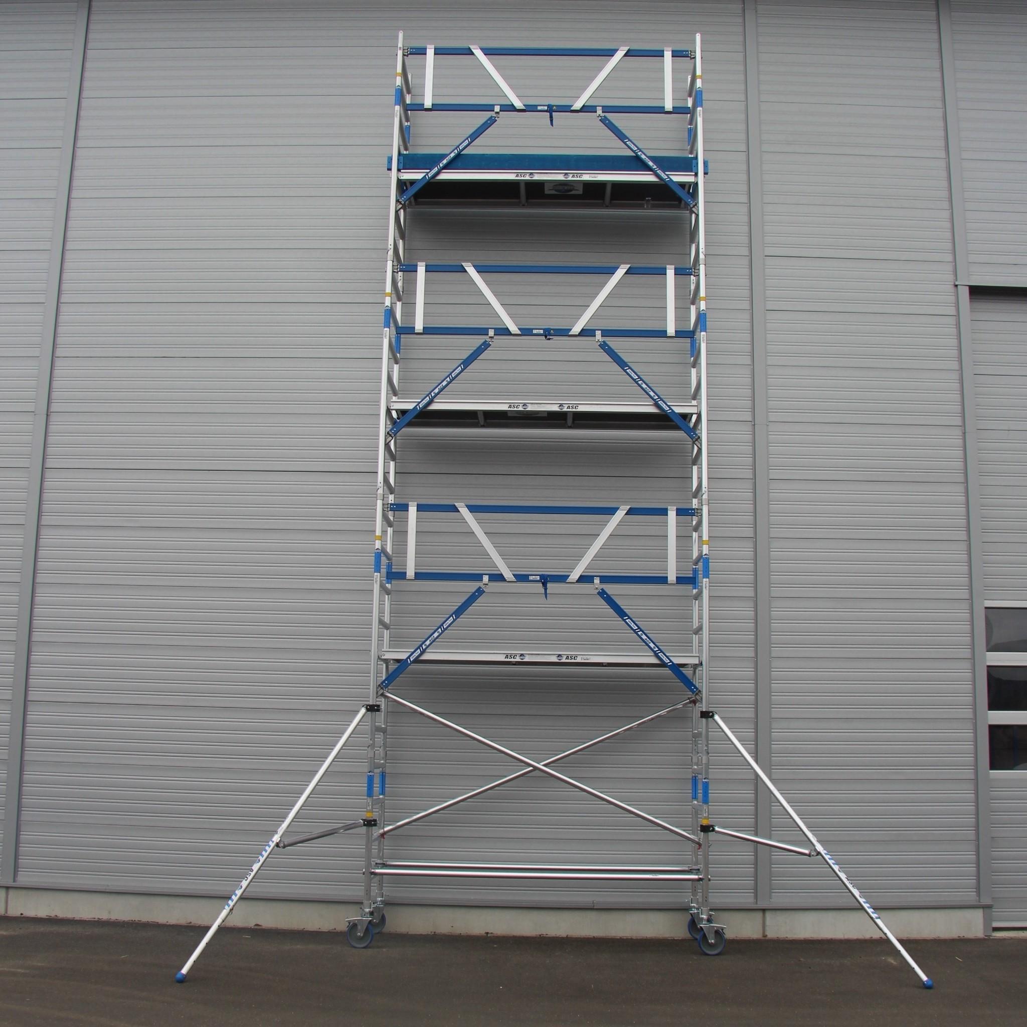 ASC Rolsteiger voorloopleuning enkel 75 x 305 x 8,2 m werkhoogte