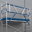 ASC Rollgerüst mit Montageschutzgeländer 75-305 x 10,2 m Arbeitshöhe