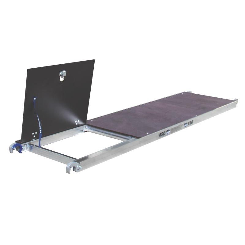 ASC Rolsteiger voorloopleuning enkel 75 x 190 x 9,2 m werkhoogte