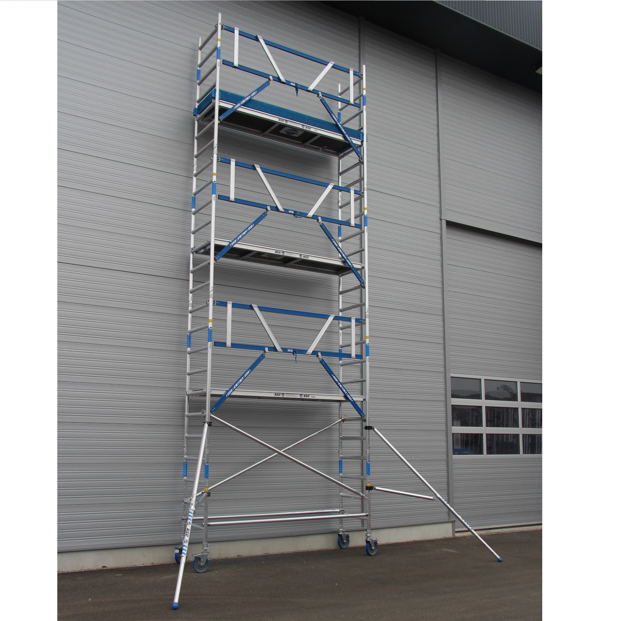ASC Rolsteiger voorloopleuning enkel 75 x 190 x 10,2 m werkhoogte